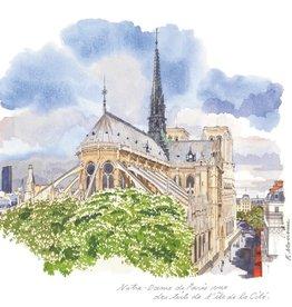 """Notre-Dame De Paris Vue Des Toits De L'Ile De La Cite Greeting Card - 6"""" x 6"""""""