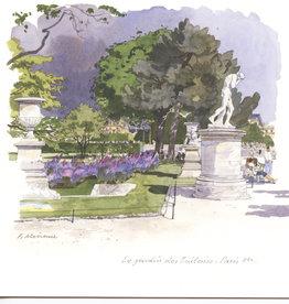 """Le Jardin des Tuileries, Paris Greeting Card - 6"""" x 6"""""""