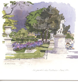 "PGC Le Jardin des Tuileries, Paris Greeting Card - 6"" x 6"""
