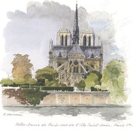 "Notre-Dame of Paris Greeting Card - 6"" x 6"""