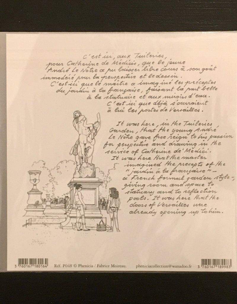 """PGC Le Jardin des Tuileries, Paris Greeting Card - 6"""" x 6"""""""