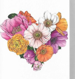 PGC Flowering Heart Greeting Card