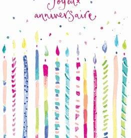 Joyeux Anniversaire Candles Greeting Card