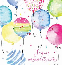 Joyeux Anniversaire Balloons Greeting Card
