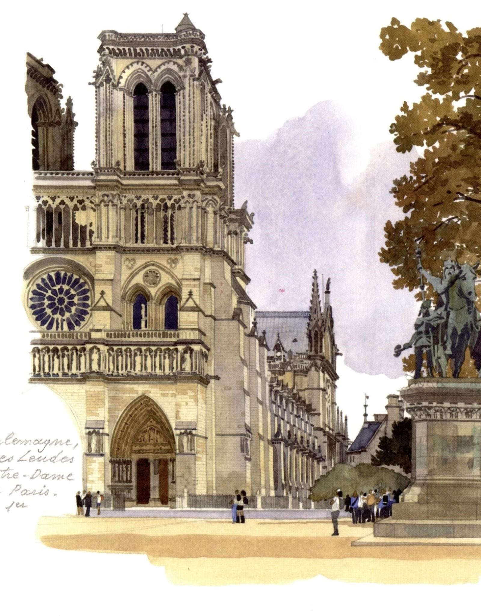 """PGC Notre-Dame de Paris Greeting Card - 6"""" x 6"""""""
