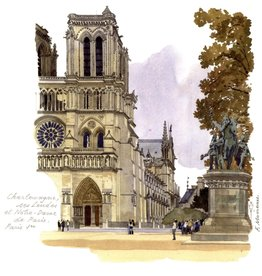 "PGC Notre-Dame de Paris Greeting Card - 6"" x 6"""