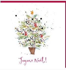 "Joyeux Noel Greeting Card - 6"" x 6'"
