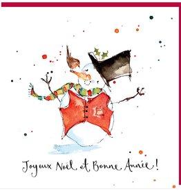 "Joyeux Noel et Bonne Annee Greeting Card - 6"" X 6'"