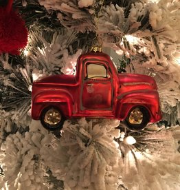 Pickup truck Ornament - Red
