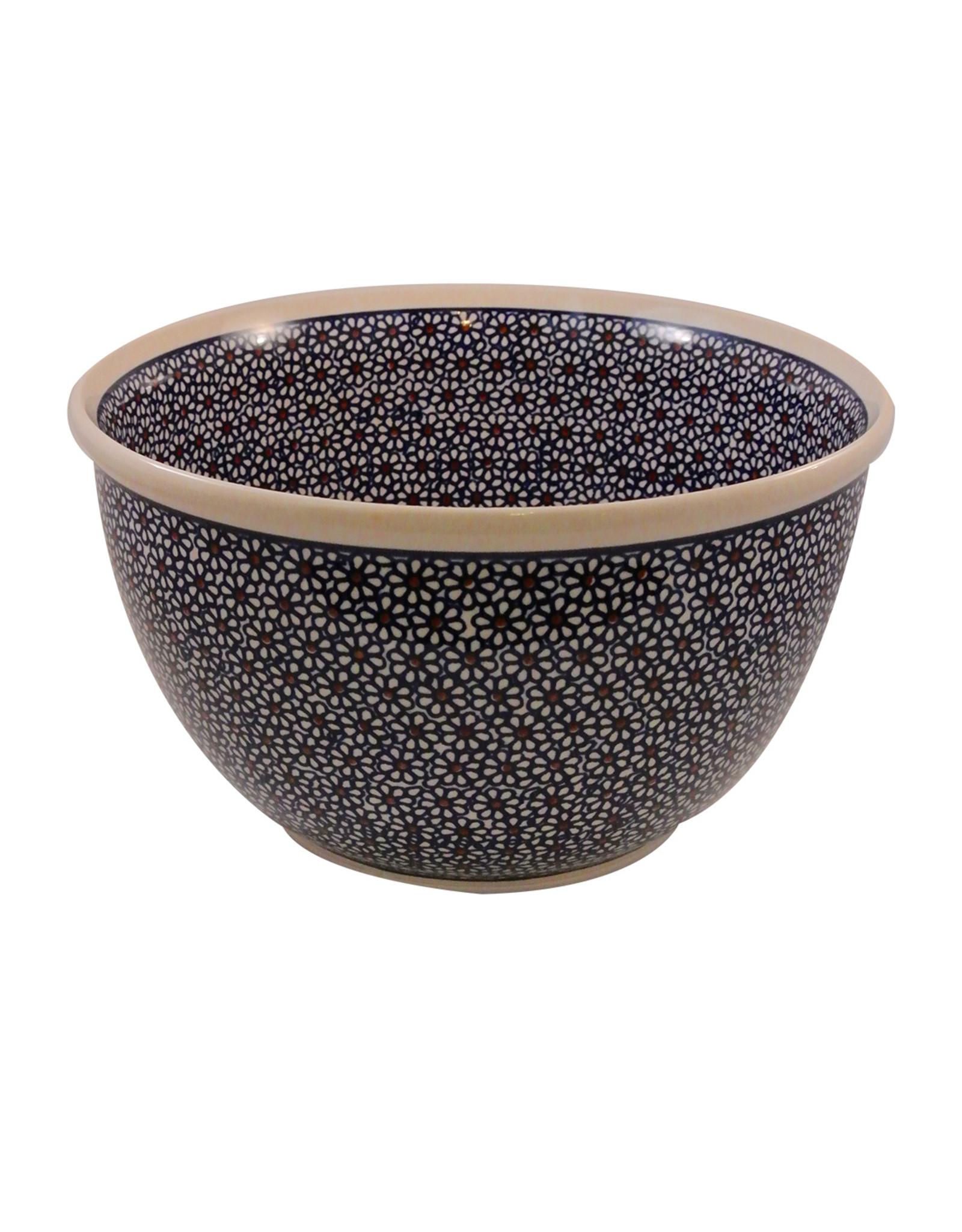 Polish Pottery Daisy Bowl - Large