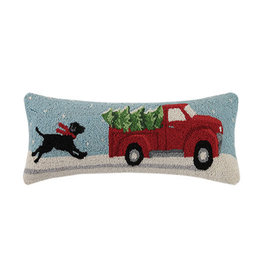 Pillow - Black Lab Christmas Chase - 24 Oblong