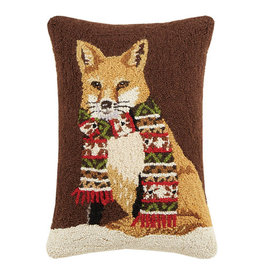 "Pillow - Fox with Scarf - 22"" Oblong"