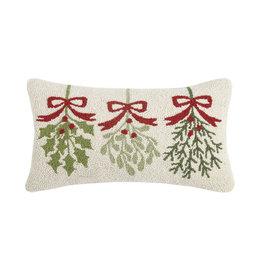 "Pillow - Three Mistletoe - 20"" Oblong"
