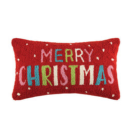 "Pillow -  Multi Merry Christmas 20"" Oblong"