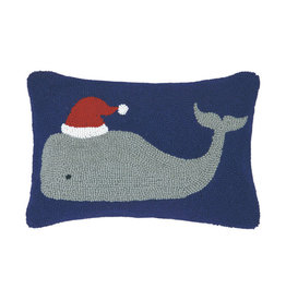 "Pillow - Christmas Whale - 18"" Oblong"