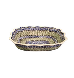 Scalloped Dish - Blue / Green