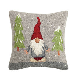 "Pillow - Snowy Gnome - 16"" x 16"""