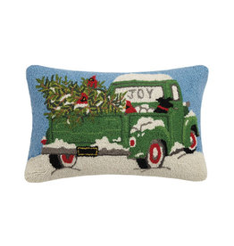 "Green Truck Hook Pillow - 14"" x 22"""
