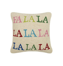 "Fa La la Hook Pillow - 16""  Square"