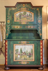Hand painted cupboard - distressed green