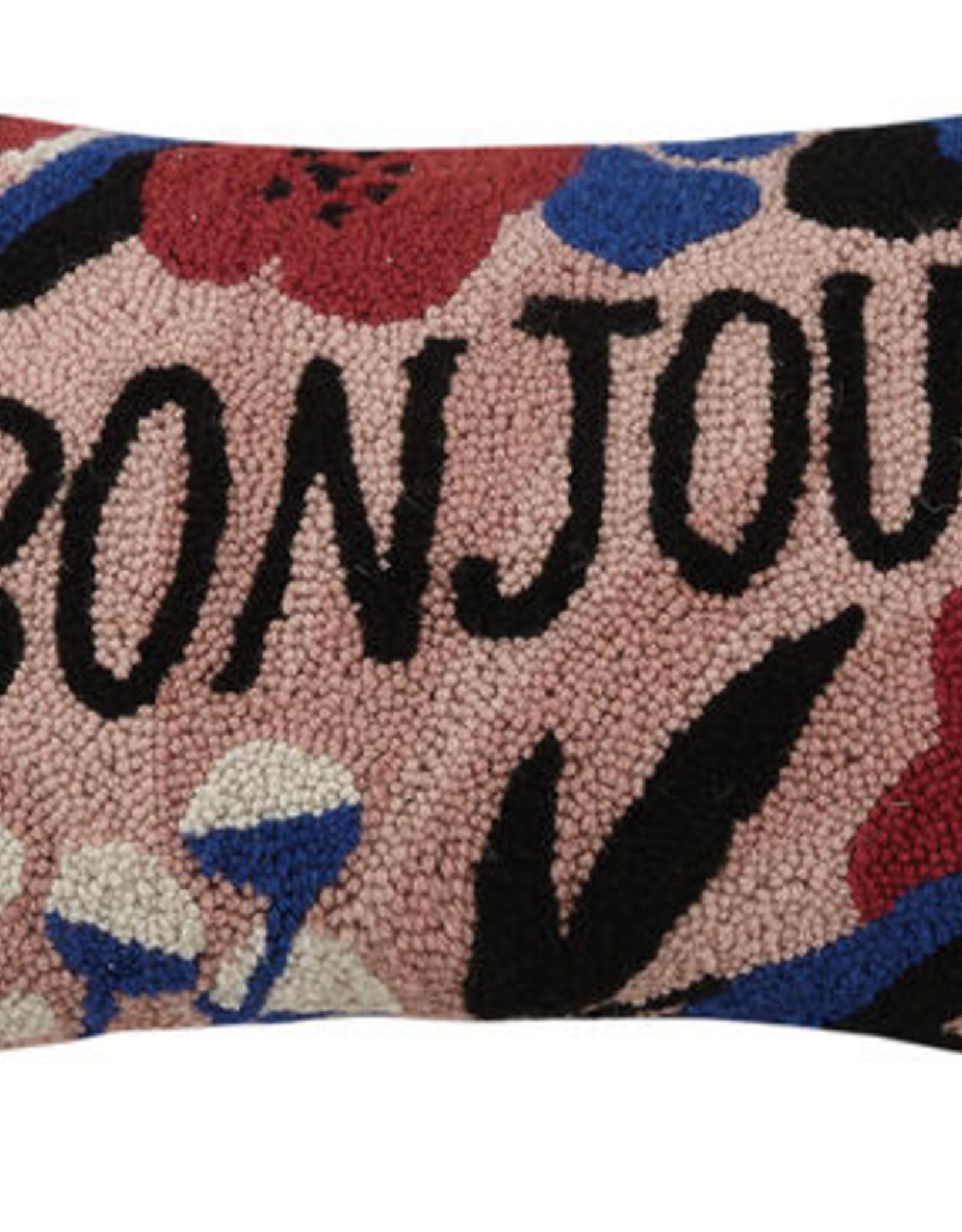 """""""Bonjour"""" Hook Pillow - 12"""" x 18"""""""