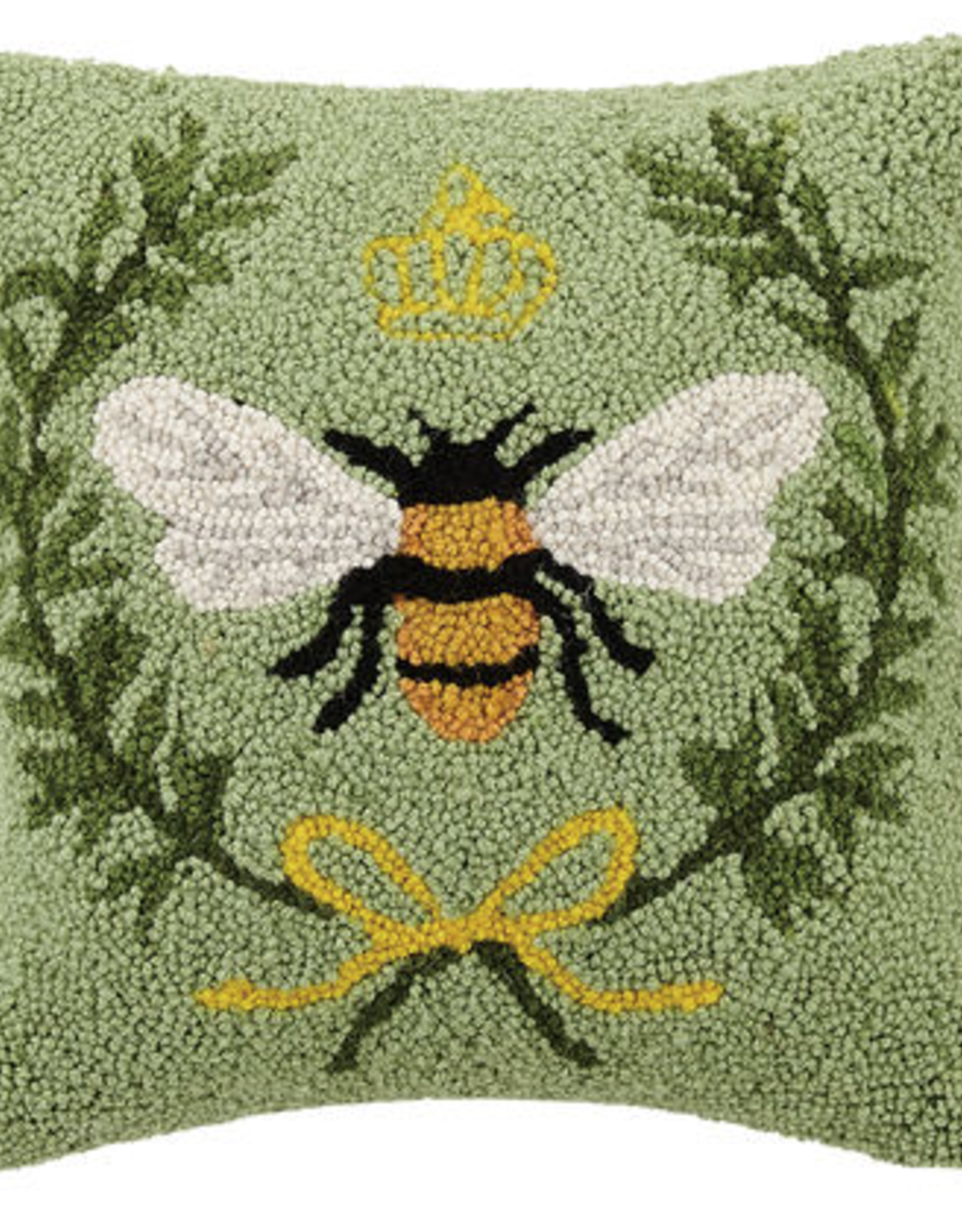"""Queen Bee Hook Pillow - 14"""" x 14"""""""