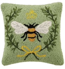 "Queen Bee Hook Pillow - 14"" x 14"""