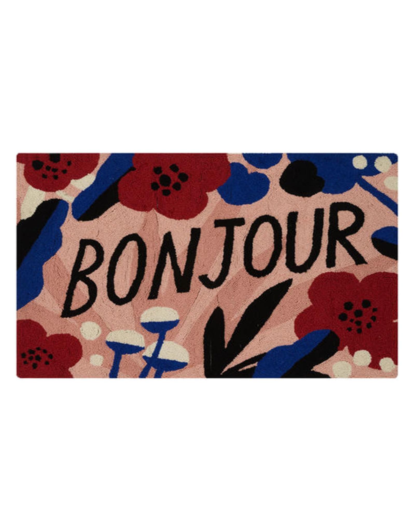 """""""Bonjour"""" Hook Rug - 2' x 3"""""""