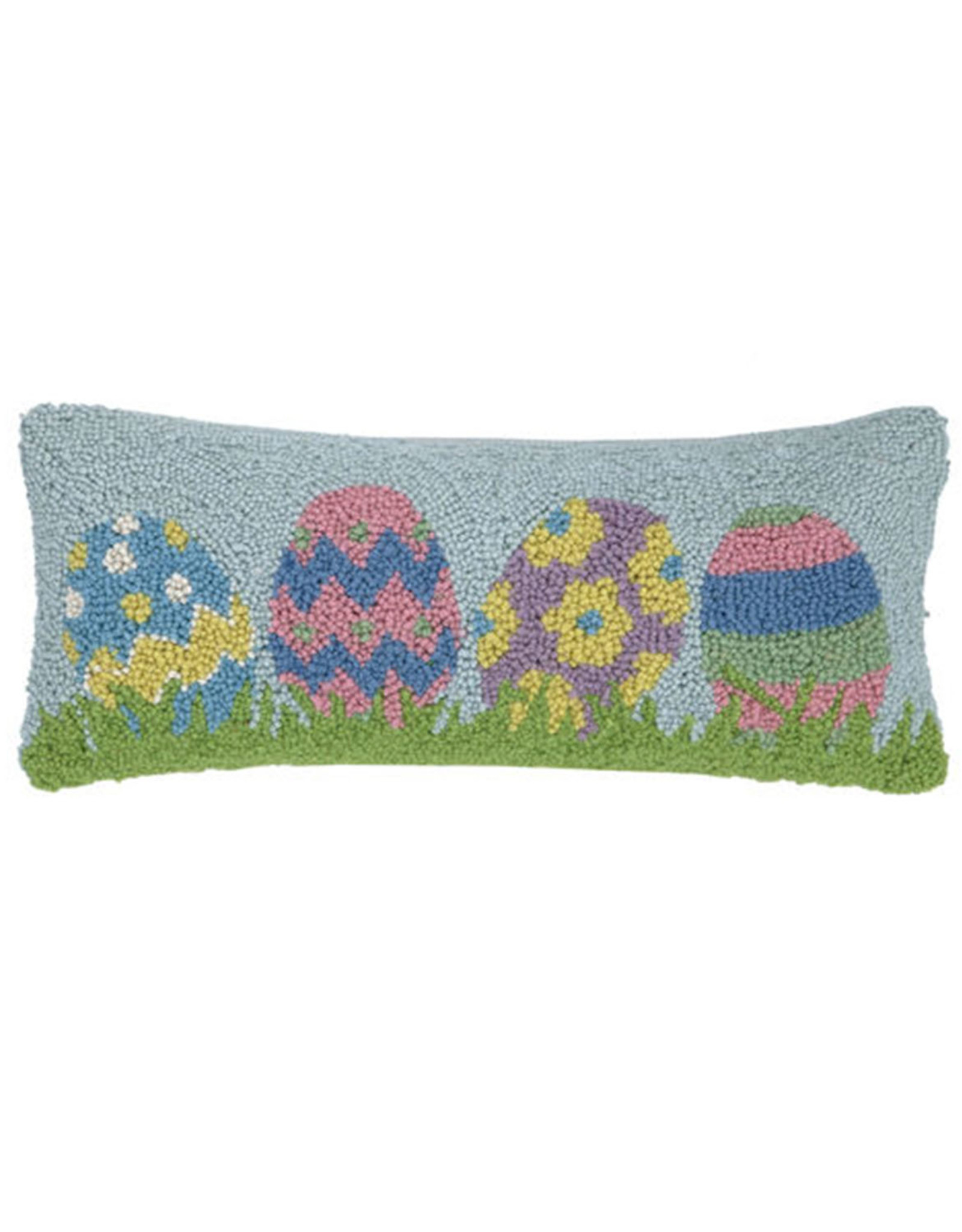 "Easter Egg Hook Pillow - 8"" x 20"""