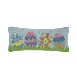 "Easter Egg Hook Pillow - 8"" x 20"""