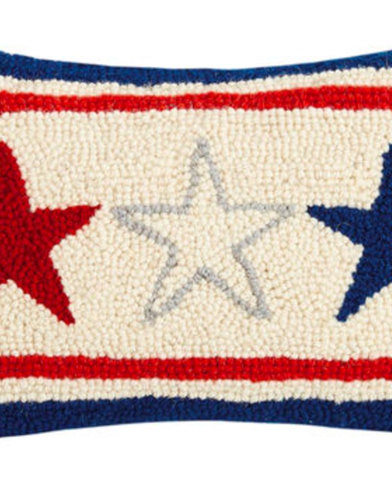 "Americana Stars Hook Pilow - 8"" x 12"""
