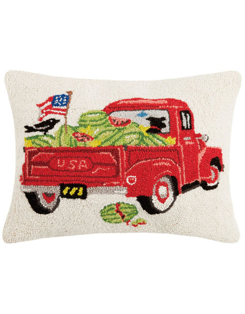 "Wagon Watermelons Hook Pillow - 16"" x 20"""