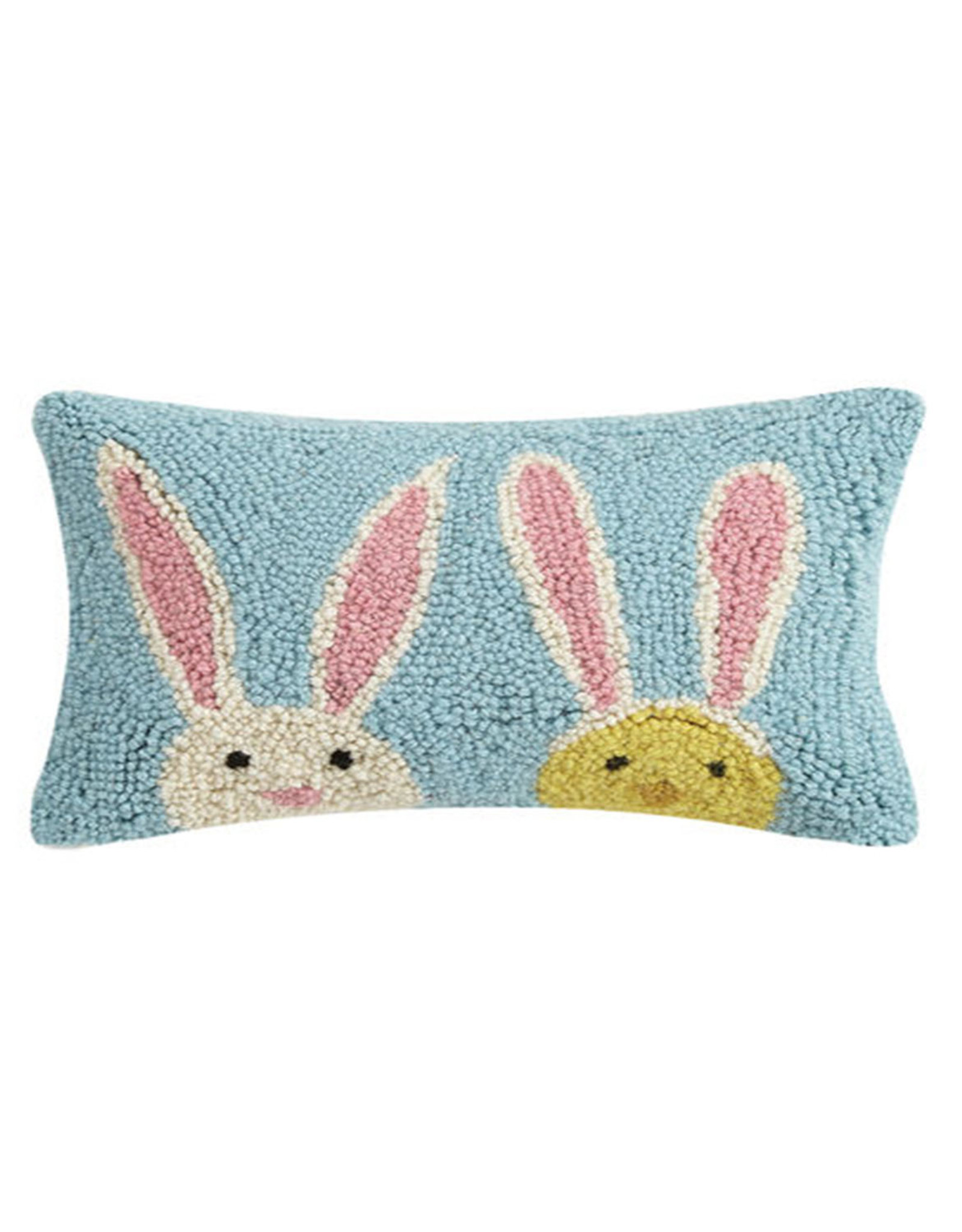 """Bunny Duo Hook Pillow - 8"""" x 12"""""""