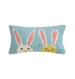 "Bunny Duo Hook Pillow - 8"" x 12"""