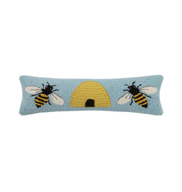 "Bee & Hive Hook Pillow - 8"" x 24"""