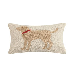 "Light Brown Dog Hook Pillow - 8"" x 12"""