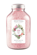 Lychee Rose Bath Salts - 22.9 oz Glass Bottle - Mistral Classic Collection