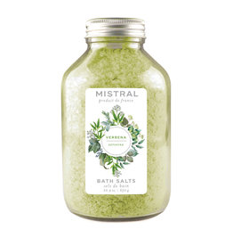 Verbena Bath Salts - 22.9 oz Glass Bottle - Mistral Classic Collection