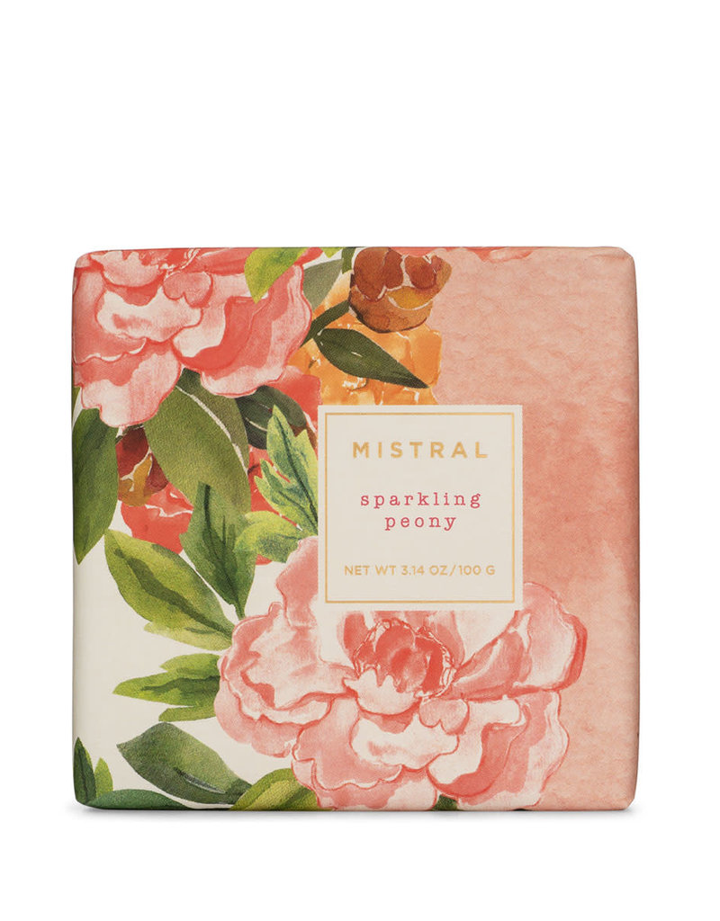 Sparkling Peony 3.14 oz - Mistral Exquisite Florals Soap Collection