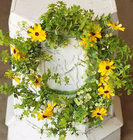 Dilly Daisy Wreath - 22""