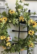 """Dilly Daisy Wreath - 22"""""""