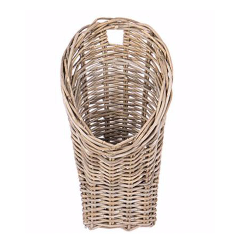 Beautiful Rattan Wall Floral Basket 11 Long X 6 Wide X 19 5 High European Splendor