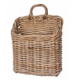 Rattan Wall Basket - 11.75 L 6.25 W 13.75 H 16.25