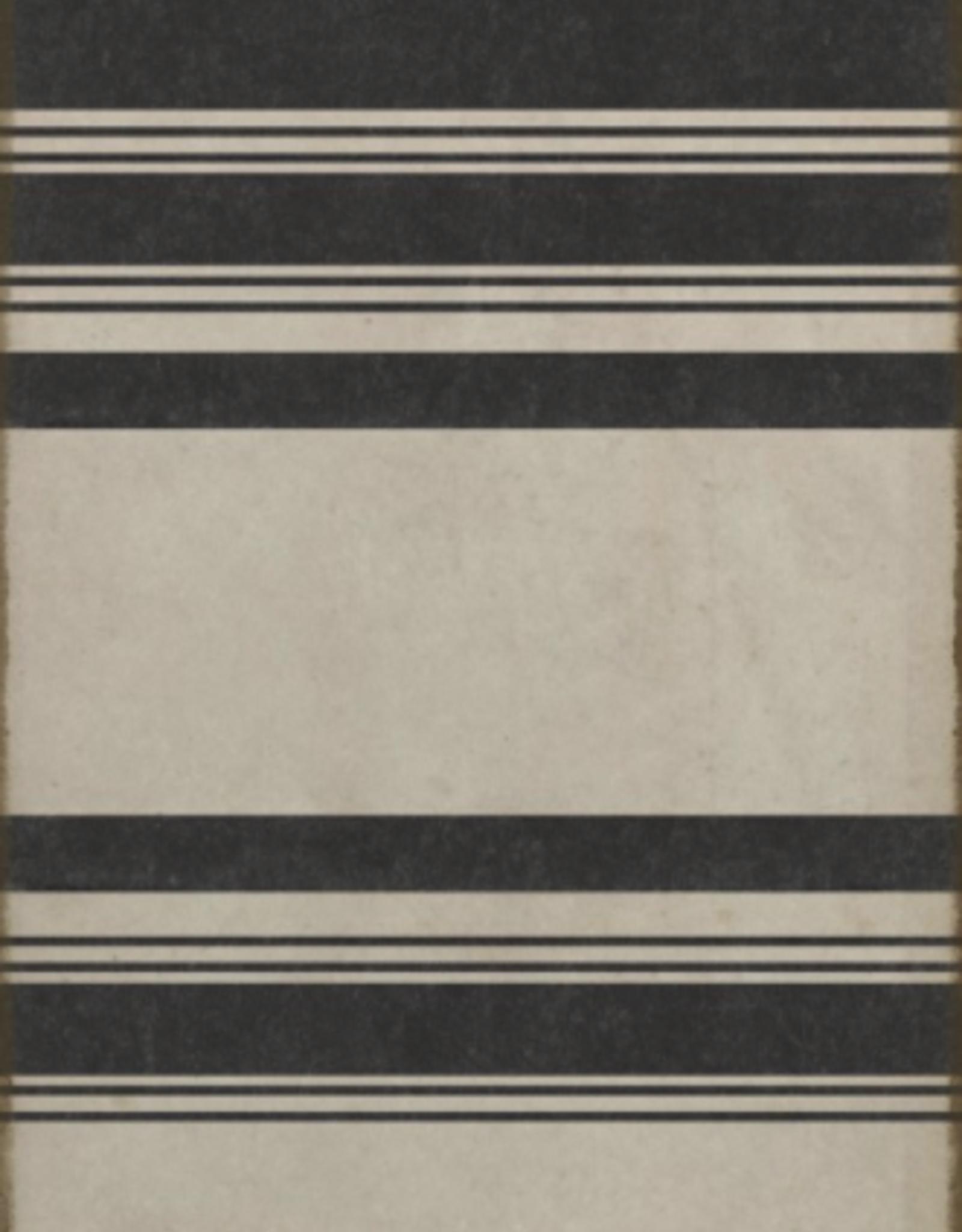 Spicher & Company Black & White Stripes Vinyl Rug - 36 x 90