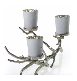 """AD Wildwood Silver Branch Candle Holder 22"""" x 10.5"""" x 11"""" - silver"""