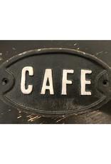 """Park Hil Cast Iron Cafe Plaque - 7 1/4"""" x 4 1/4"""""""
