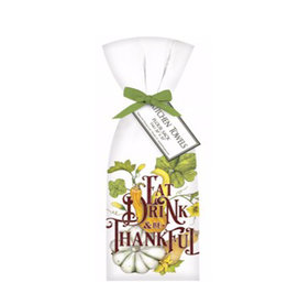 Eat Drink & Be Thankful Towels - Set of 2
