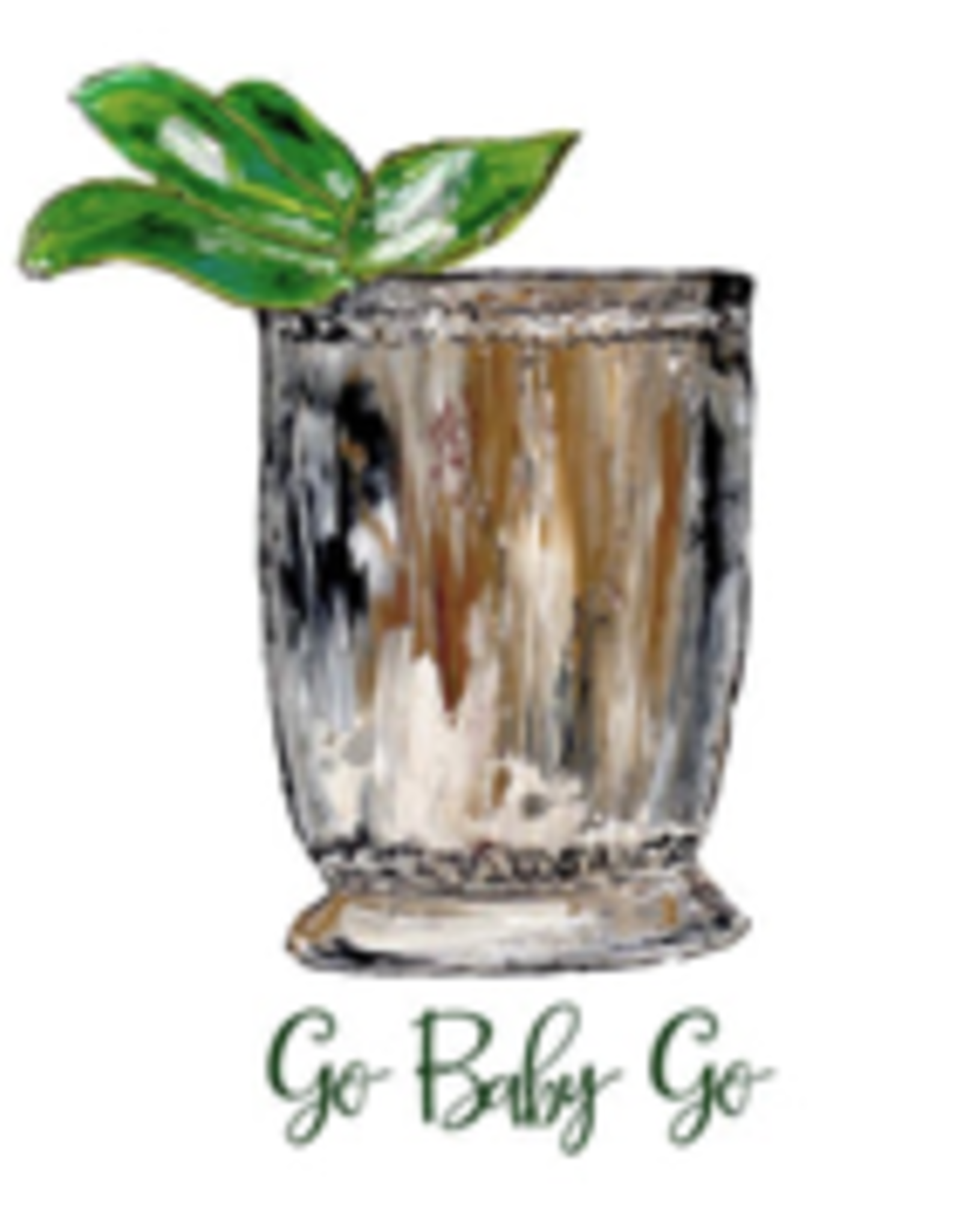 Towel - Mint Julep Cup. Go Baby Go!