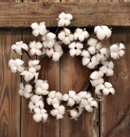 Faux Cotton Wreath 12""