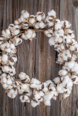 """Faux Cotton Wreath 22"""""""